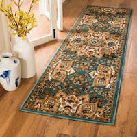 Safavieh Summit Teal/ Ivory Rug - 2'3 x 8'