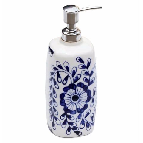 Blue and White Ceramic Liquid Pump