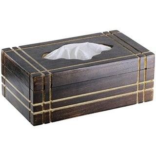 Tissue Box Cover Holder Tissue Dispenser Rectangular Wooden Box