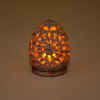Royal Garden Natural Hand-Carved Soapstone Candle / Tea-Light Holder