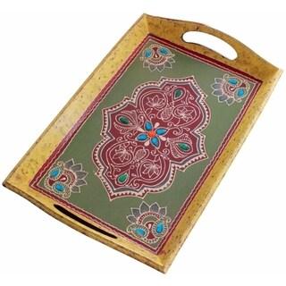 SouvNear Handmade Wooden Decorative Tray