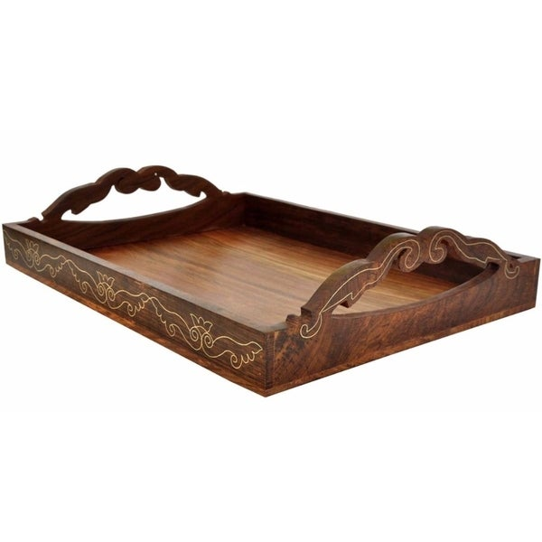 Shop Souvnear 15x11 Inch Wooden Antique Look Tray With