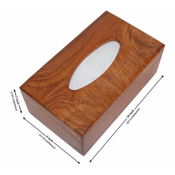 SouvNear 10 Inch Brown Tissue Box Cover