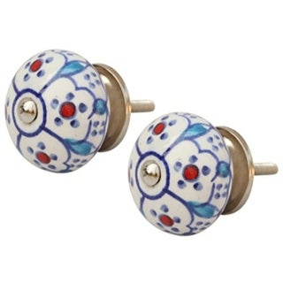 SouvNear Set of 2 Ceramic Round Knobs with Hardware Decorative Cabinet