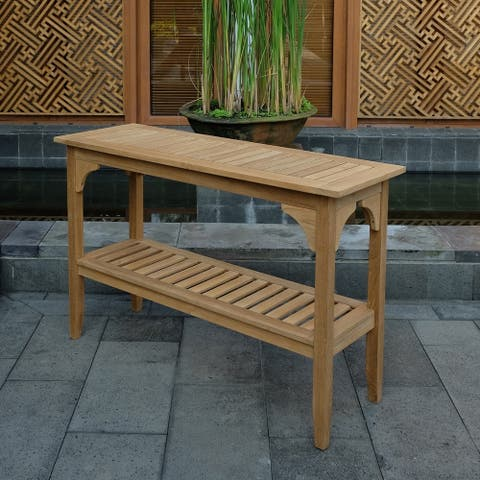 Leon Teak Console Table by Havenside Home