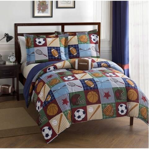 Team Sport Collegiate Ultra Soft 4 PC Comforter Bedding Set
