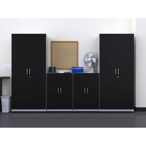 "ClosetMaid 112"" W 4-Piece Garage Storage Cabinet Set"