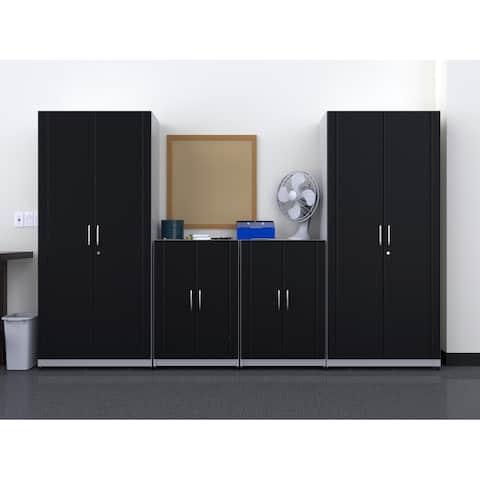 """ClosetMaid 112"""" W 4-Piece Garage Storage Cabinet Set"""