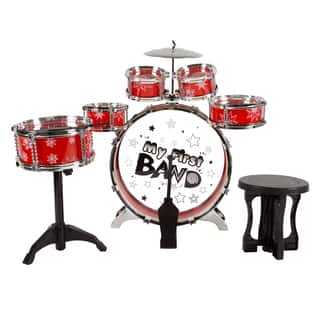 7 Piece Toy Drum Set for Kids by Hey! Play!|https://ak1.ostkcdn.com/images/products/18513776/P24624138.jpg?impolicy=medium