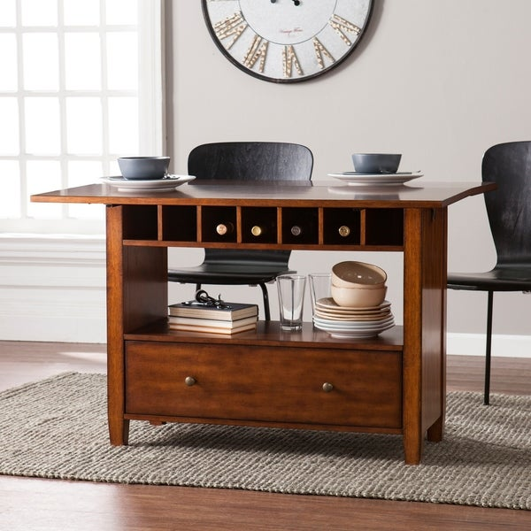 Shop Harper Blvd Cayson Convertible Console To Dining Table Oak