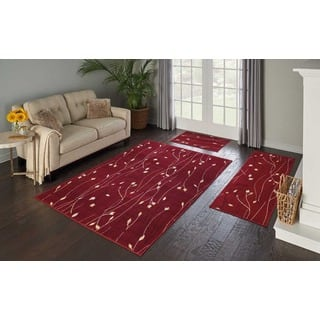 Nourison Grafix 3 Piece Red Area Rug Set 5