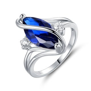 White Gold Plated Spinel Accent S Ring