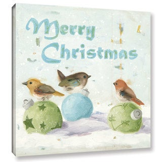Ninalee Irani's 'Merry Christmas' Gallery Wrapped Canvas