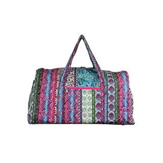 World Traveler Basics Quilted 20-Inch Artisan Collection Carry-On Shoulder Duffel Bag