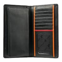 Visconti BD16 Leather Checkbook Wallet with Removable Checkbook