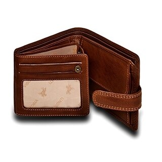 "Visconti Archimedes DRW30 Mens Trifold ID Leather Wallet 4.7"" x 3.75"""
