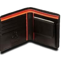 Visconti Bond BD10 Mens Black Soft Thin Leather Bifold Wallet