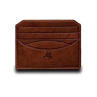 "Visconti Mendel DRW25 Pocket Card Holder Leather Wallet - 4"" x 3.15"""