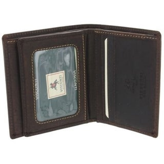 Visconti 710 Distressed Leather ID Wallet Bifold Card Case
