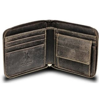 Visconti Hunter 702 Zip Around Leather Oil Distressed Wallet|https://ak1.ostkcdn.com/images/products/18514160/P24624463.jpg?impolicy=medium