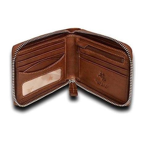 Visconti Hawking DRW31 Zip Around Mens Bifold Leather Wallet