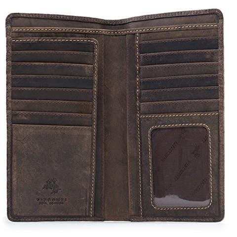 d3a2bb0f26de Visconti 724 Hunter Distressed Leather Tall Bi-fold RFID Wallet
