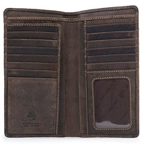 Visconti 724 Hunter Distressed Leather Tall Bi-fold RFID Wallet