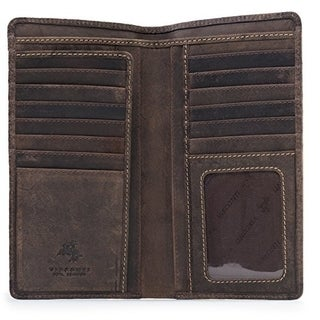 Visconti 724 Hunter Distressed Leather Tall Bi-fold Wallet for Home