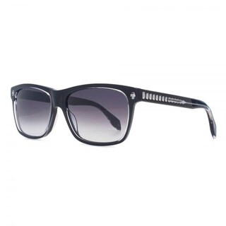 Alexander Mcqueen AM0025S 001 Mens Black Frame Grey Lens Sunglasses