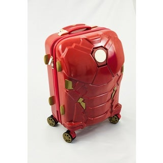 Iron Man 24-inch Light Up Spinner Suitcase