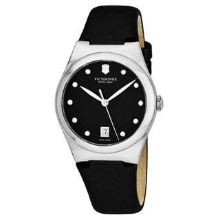 Swiss Army Women's V241632 'Victoria' Black Dial Black Satin Strap Swiss Quartz Watch