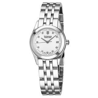 Swiss Army Women's V24849 'Alliance' Mother of Pearl Diamond Dial Stainless Steel Swiss Quartz Watch|https://ak1.ostkcdn.com/images/products/18514628/P24624641.jpg?impolicy=medium