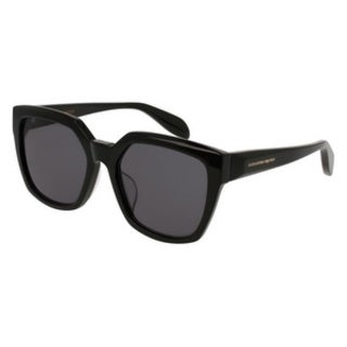 Alexander Mcqueen AM0042SA 004 Womens Black Frame Grey Lens Sunglasses