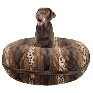 Bessie and Barnie Signature Wild Kingdom Luxury Extra Plush Faux Fur Bagel Pet / Dog Bed
