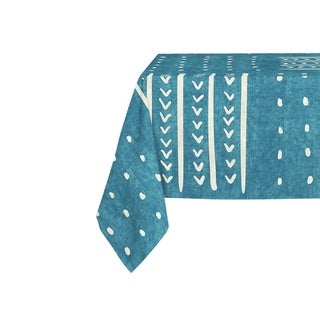 Kavka Designs Teal Basin Table Cloth By Becky Bailey - 70 x 90 inches