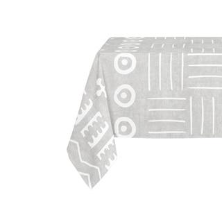 Kavka Designs Grey Yuma Table Cloth By Becky Bailey - 70 x 90 inches