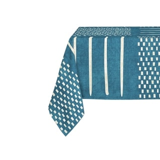 Kavka Designs Teal Crossroads Table Cloth By Becky Bailey - 70 x 90 inches
