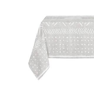 Kavka Designs Grey Nova Table Cloth By Becky Bailey - 70 x 90 inches