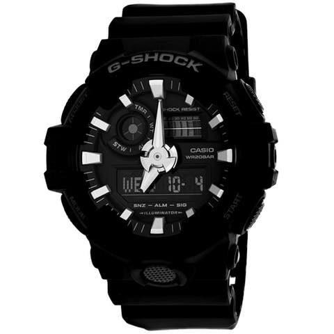 Casio Men's 'G-Shock' Analog-Digital Black Resin Watch