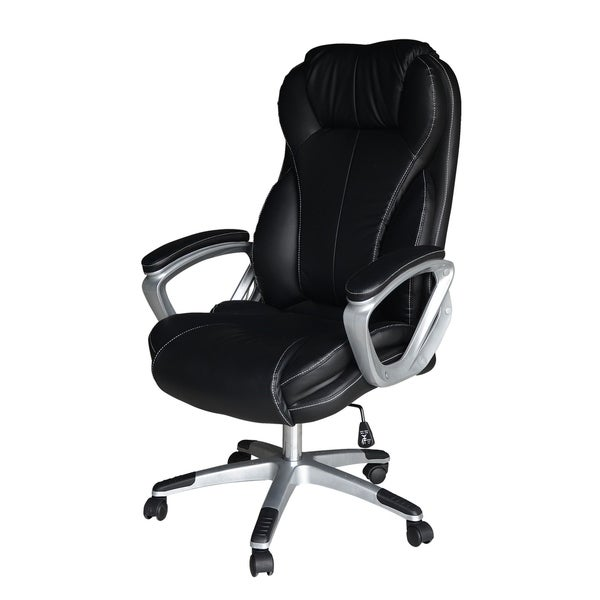 shop magnum big n tall executive black office chair free shipping