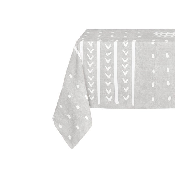 Kavka Designs Grey Basin Table Cloth By Becky Bailey - 70 x 90 inches
