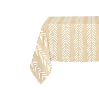 Kavka Designs Cream Willow Table Cloth By Becky Bailey - 70 x 90 inches