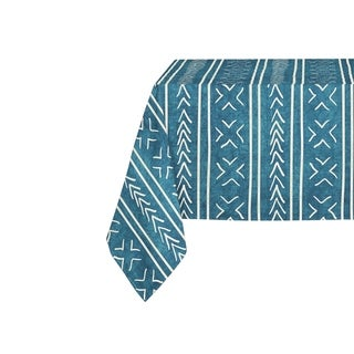 Kavka Designs Teal Coronado Table Cloth By Becky Bailey - 70 x 90 inches