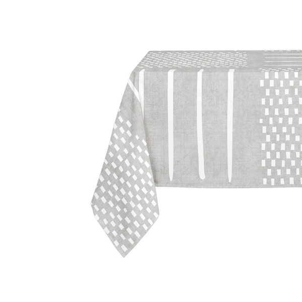Kavka Designs Grey Crossroads Table Cloth By Becky Bailey - 70 x 90 inches