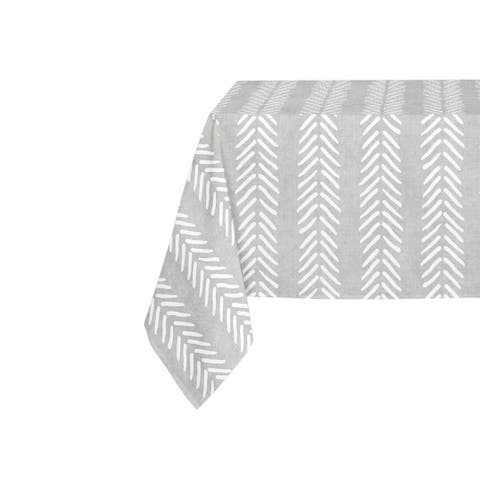 Kavka Designs Grey Willow Table Cloth By Becky Bailey - 70 x 90 inches