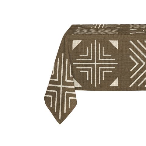 Kavka Designs Mudcloth Table Cloth By Marina Gutierrez - 70 x 90 inches