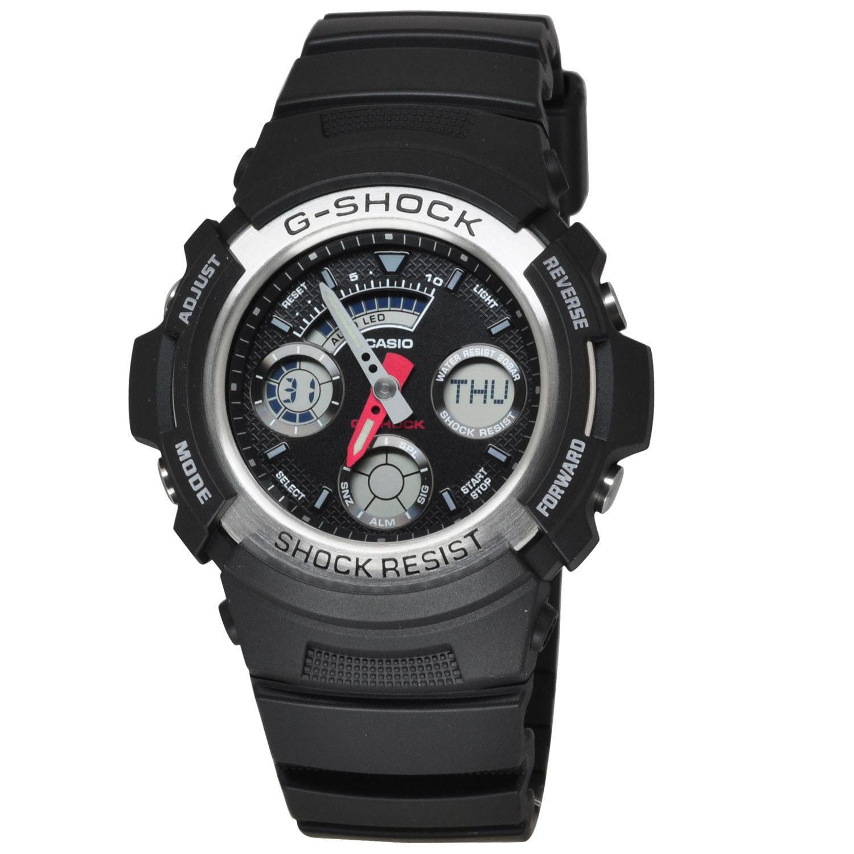 Casio Men's AW590-1A G-Shock Black Watch (Black), Size On...