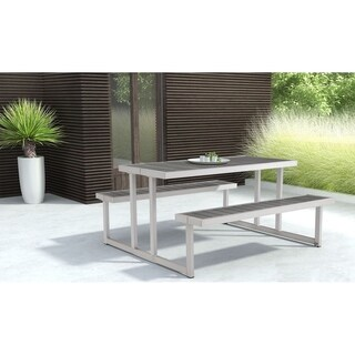 Pyper Marketing Powder Mill Silvertone Aluminium Picnic Table