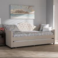 Contemporary Fabric Daybed with Trundle by Baxton Studio