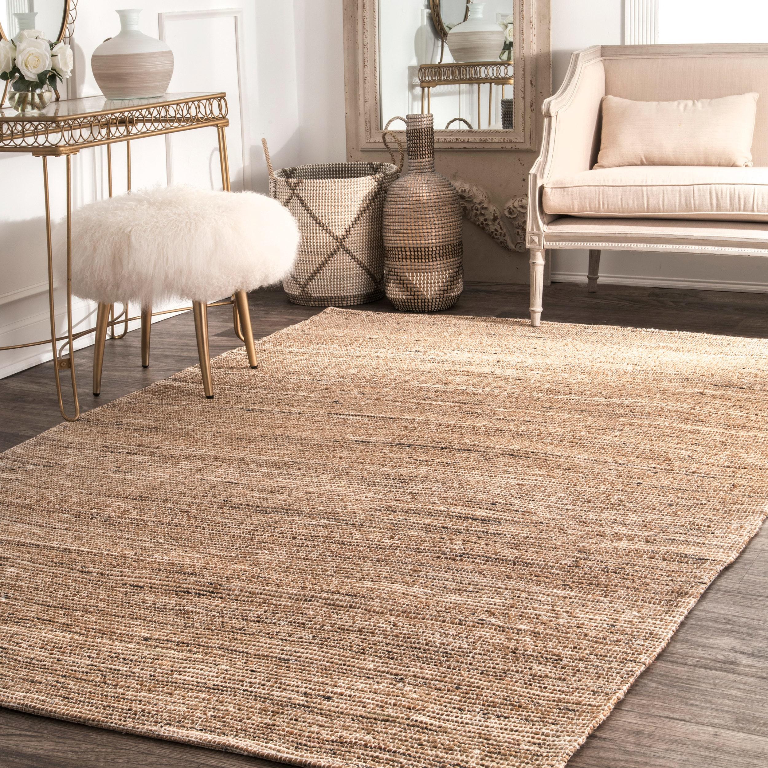Nuloom handmade flatweave natural fiber jute area rug 5